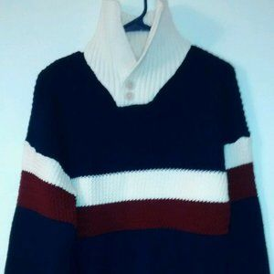 Roos Atkins Men's S Sweater Polo Pullover 2 Button